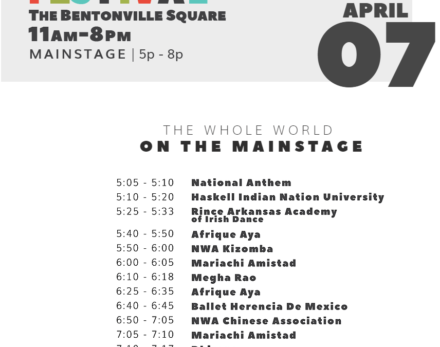 First Friday in Downtown Bentonville AR on the Square 4-7-17
